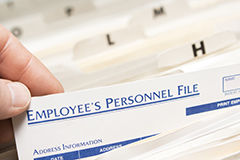 employee personnel file
