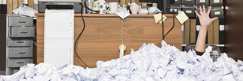 paperless office hand